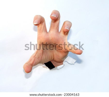 claw hand - stock photo