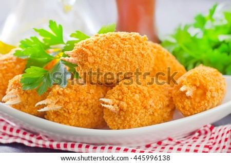 claw legs on plate - stock photo