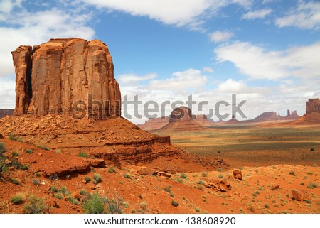 Clay Butte and  Monument Valley, Arizona - stock photo