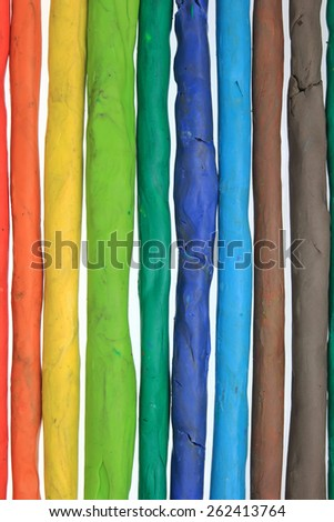 clay colorful vertical bars background - stock photo