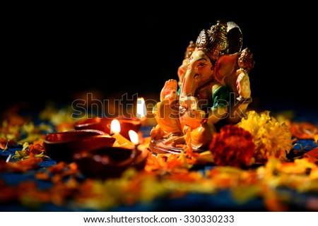 Lord Ganesha Background Stock Images Royalty Free Images