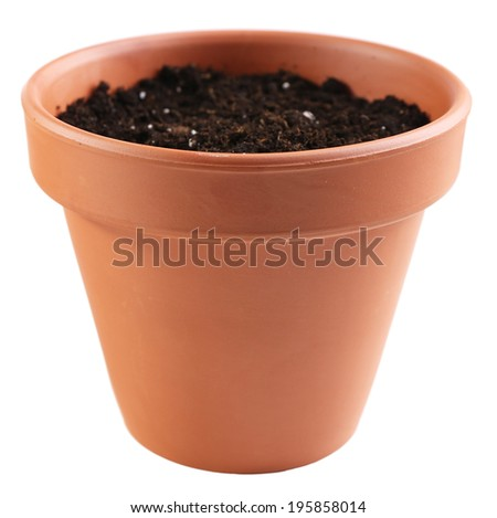 Clay pot stock photos images pictures shutterstock for Clay potting soil