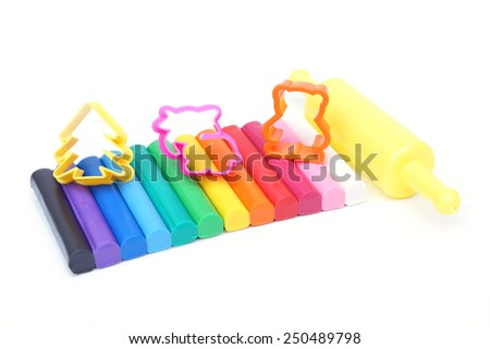 clay for children on isolated background - stock photo