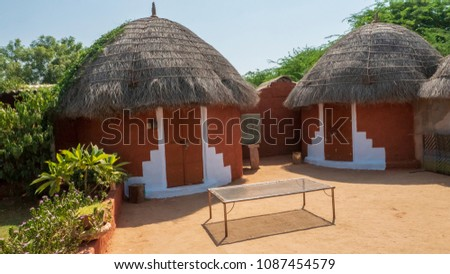 Clay Huts In Indian Village Very Good Condition