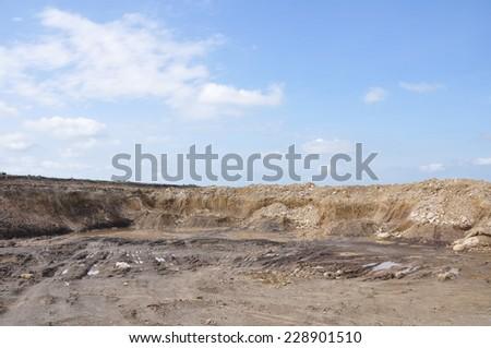 Clay mining - stock photo