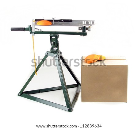 Clay pigeon shooting target thrower - stock photo