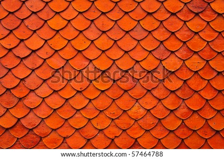 Clay roof texture - stock photo