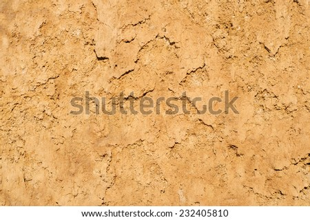 Clay soil texture background, dried surface - stock photo