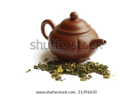 Clay teapot for the Chinese tea