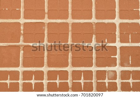 Clay tile texture and background.