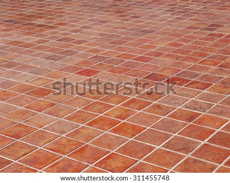 clay tiles floor texture background - stock photo