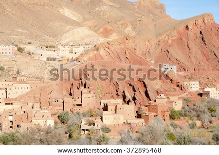 Clay Village - Morocco - stock photo
