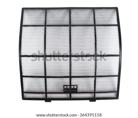 clean air conditioner filter isolated on white - stock photo