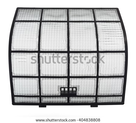 Clean AirCon filter with no visible dust - stock photo