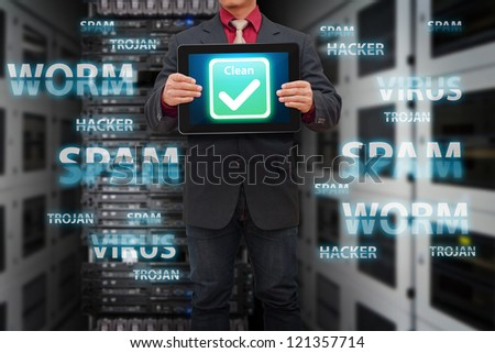 Clean all virus from your system - stock photo