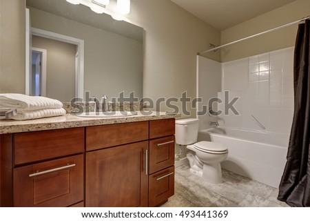 Clean Warm Bathroom Interior Tile Floor Stock Photo Royalty Free