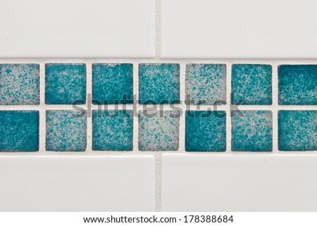 Clean bathroom tiles asa detailed background - stock photo