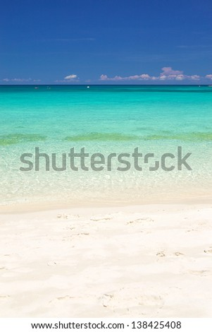 Clean beach scene on summer time for background