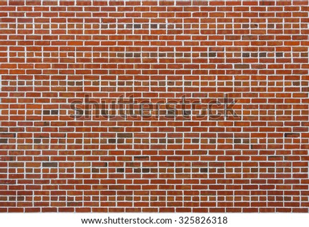 Clean brick wall texture or background - stock photo
