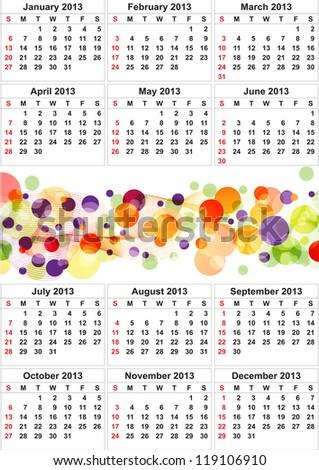 Clean 2013 business wall calendar - stock photo