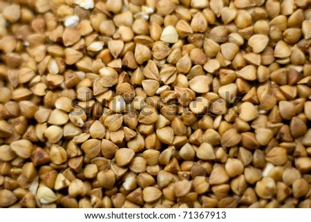 clean cereals - dry buckwheat