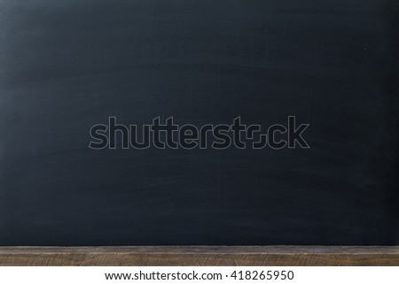 Clean chalk board for background . texture for educational or business background. - stock photo