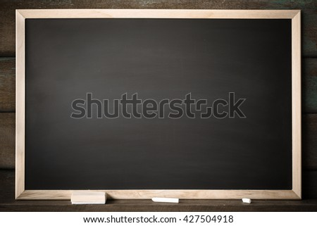 Clean chalk board for background. texture for educational or business background. black board for add text or graphic design.