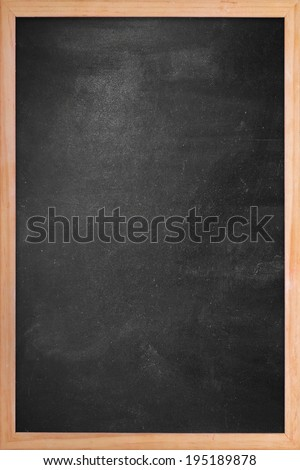 Clean chalk board  in wooden frame - stock photo