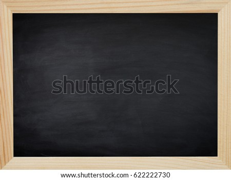 Clean chalk on blackboard for background. texture for educational  background.