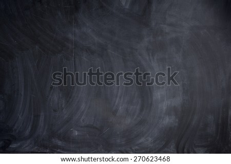 Clean chalkboard with stains - stock photo