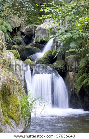 clean, cold water flows down the mountain slopes, forming waterfalls
