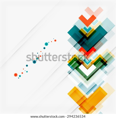 Clean colorful unusual geometric pattern design. Abstract background, online presentation website element or mobile app cover  - stock photo