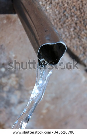 Clean drinking water and metal pipe