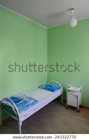 Clean empty beds in a hospital room - stock photo