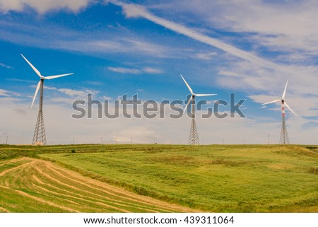 clean energy produced by wind turbines