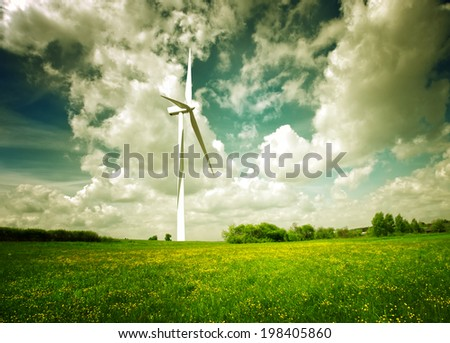 Clean green energy - stock photo