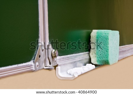 clean green school board for limning - stock photo