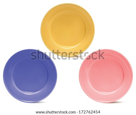 Clean plates, isolated. Illustration - stock photo