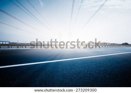 clean road of city , rapid city traffic. - stock photo