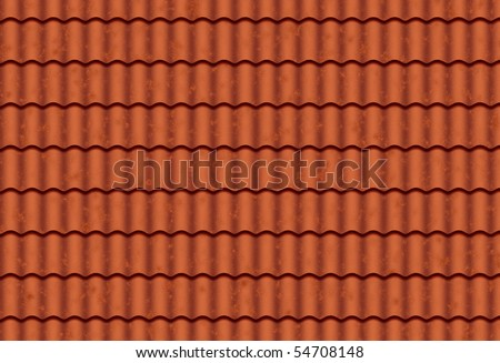clean roof tiles background texture in regular rows - stock photo