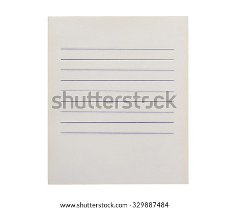 Clean shopping list on a white background - stock photo