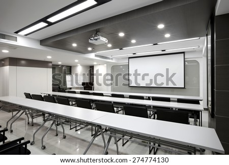 Clean simplicity office conference room interiors