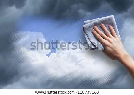 clean the air - stock photo