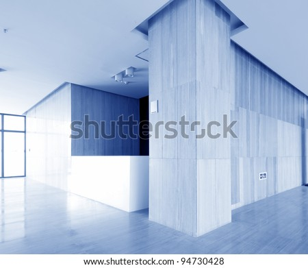 Clean the hospital room, the blue tint. - stock photo
