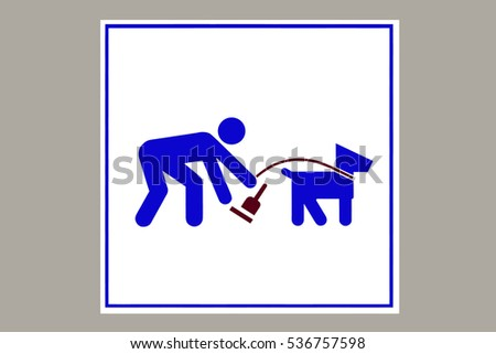 clean up after your dog sign, illustration