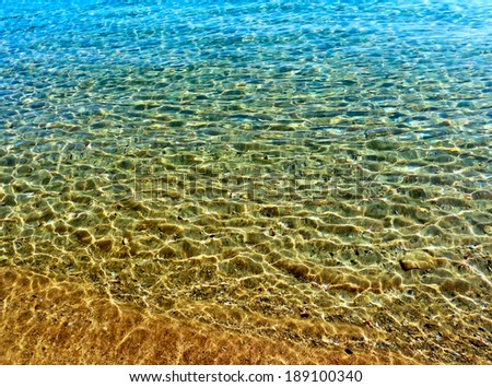 Clean water, sea in the Pelion area. (Greece) - stock photo