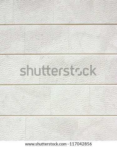 Clean white brick wall or plaster, texture or background