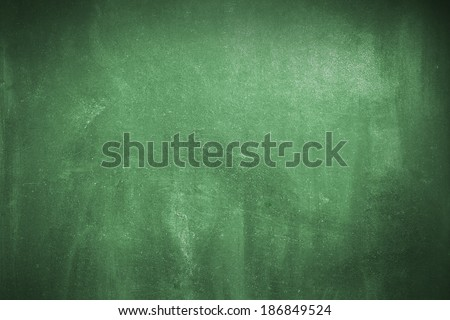 Cleaned green chalk board surface - stock photo