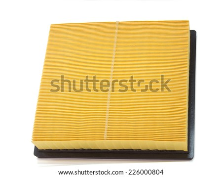 cleaner engine or air filter on white background  car parts - stock photo