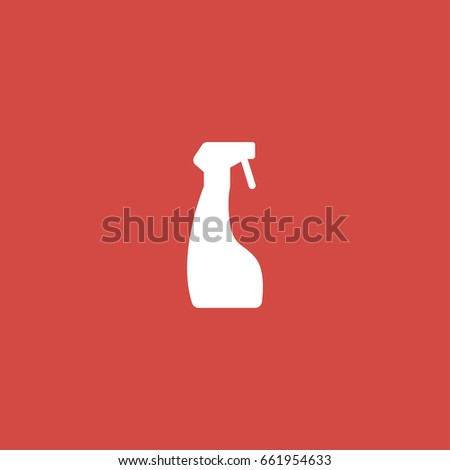 cleaner icon. sign design. red background